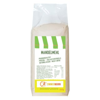 Almond flour natural not de-oiled 1000g - conventional from Zimmermann